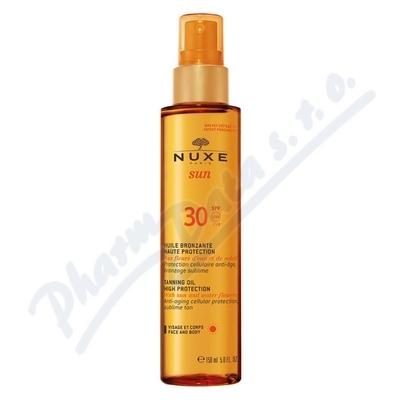 NUXE SUN Bronzující olej SPF30 obličej tělo 150ml