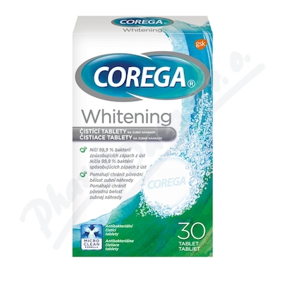 Corega whitening čisticí tablety 30ks