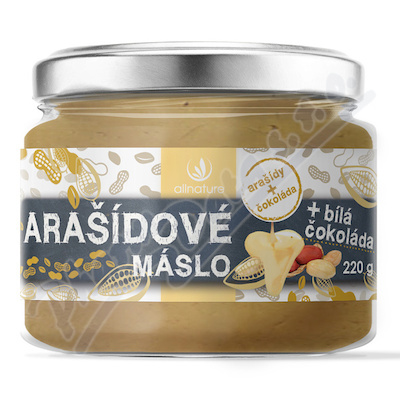 Allnature Arašídové máslo s bílou čokoládou 220g