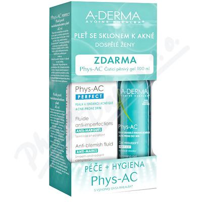 A-DERMA Phys-AC Perfect 40ml+ čist.gel 100ml