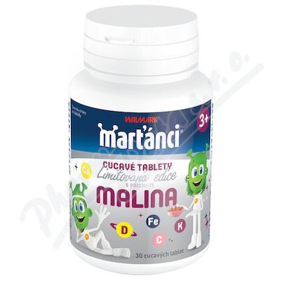 Walmark Marťánci cucavé tablety malina tbl.30