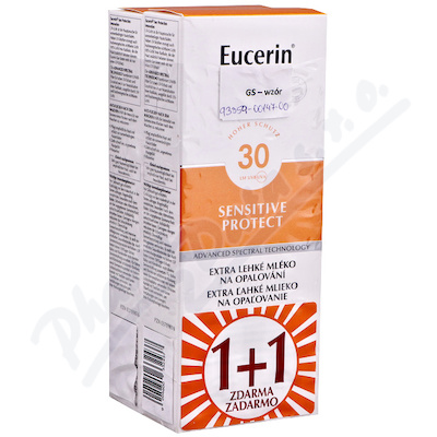 EUCERIN SUN Ext lehké ml.na opal SPF30 1+1 ZDARMA