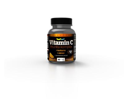 Salutem Pharma Vitamin C 500 mg Imunita komplex kurkuma + zázvor 60 tablet