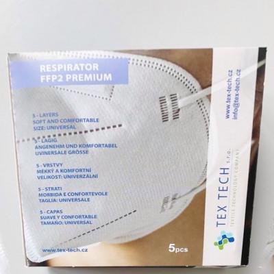 Respirátor FFP2 PREMIUM 5 Ks (česká výroba)