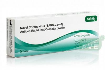 Antigenní test Rapid Test na SARS-Cov-2, 5 ks v balení