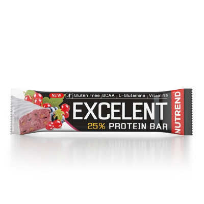 Nutrend Excelent Protein Bar 85g černý rybíz s brusinkou