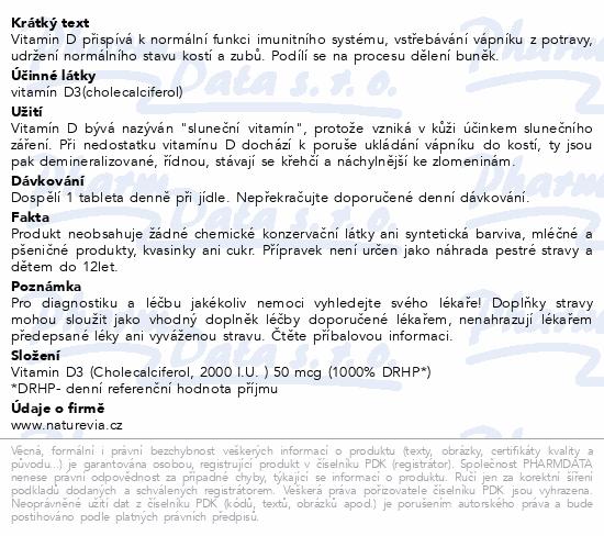 Swiss NatureVia Vitamin D3 Efekt 2000IU 90 tabliet